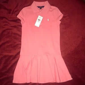 Cotton Mesh Polo Dress